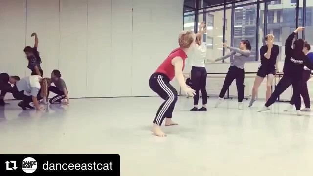 @danceeastcat ・・・ Today our Level 4 and Level 5 students had a @rambertschool workshop led by the amazing @dellis71 and assisted by CAT alumni Joey Hogger who is now in 3rd year at Rambert School – what a fab afternoon!