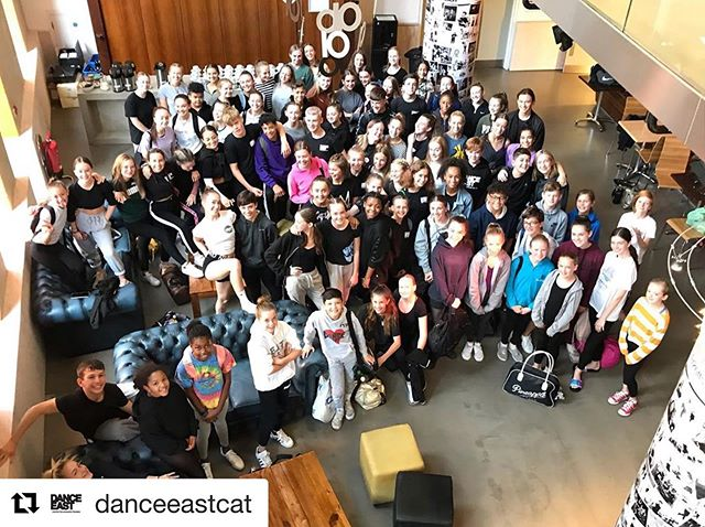 @danceeastcat ・・・ So here they are all, the DanceEast Centre for Advanced Training (CAT) cohort of 2019/2020! ⭐️ Such an amazing buzz around the building, we cannot wait for the year ahead! @danceeast @natdancecatuk @educationgovuk