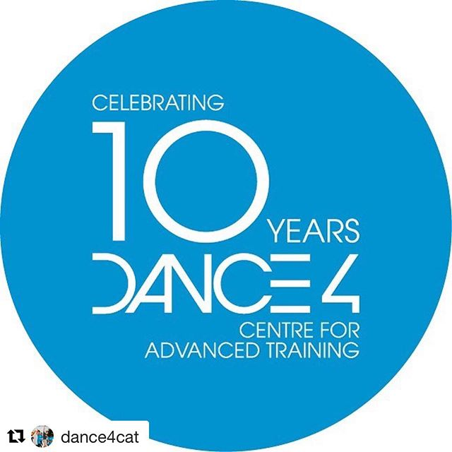 @dance4cat ・・・ This academic year sees the 10 year anniversary of Dance4's Centre for Advanced Training. We have an exciting year ahead planned to celebrate 🎉 watch this space for updates!! @wearedance4 @natdancecatuk